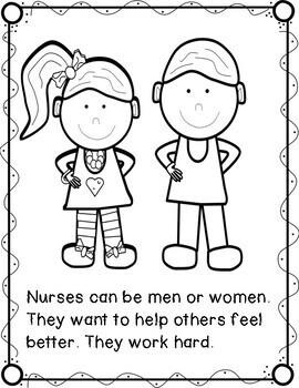 Nurse Read and Color Book, Thank You, Nurses! FREEBIE by