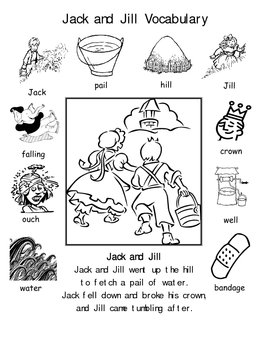 Nursery Rhyme Dictionaries and Vocabulary Word Cards 10