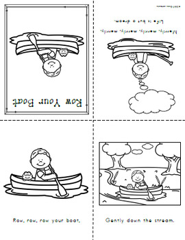 Nursery Rhyme Posters and Mini Books: Row Your Boat by