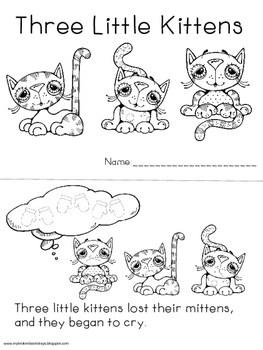 Nursery Rhyme Three Little Kittens by My Broken Bootstraps