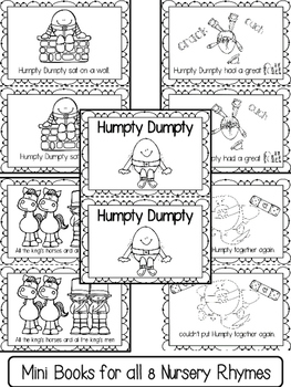 Nursery Rhymes Activities Unit (Free Mini Book in Preview