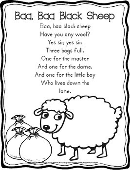 Nursery Rhymes & Poems for Primary Students (Ink Friendly