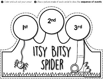 Nursery Rhymes Sequencing Crowns by Teacher's Breathing
