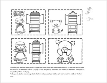 OLD MOTHER HUBBARD NURSERY RHYME LARGE SEQUENCE CRAFT by