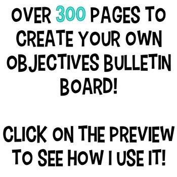 Learning Objectives Display {Melonheadz Bulletin Board Kit