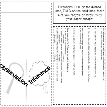 Observation and Inferences Foldable, Stations, and