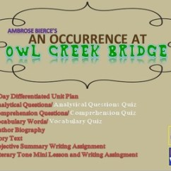 An Occurrence At Owl Creek Bridge Plot Diagram Simple Flower Parts Short Story Unit By Coach K S Room