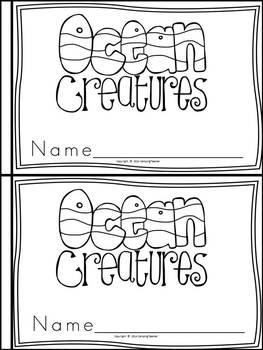 Ocean Animals Book for Kindergarten and 1st Grade {Block
