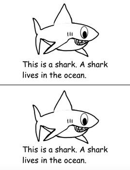 Ocean Animals Emergent Reader (Informational Text) by