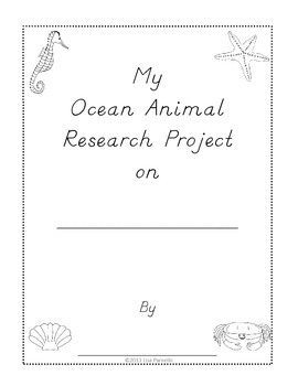 Ocean Animals Research Project Mini Book for Primary