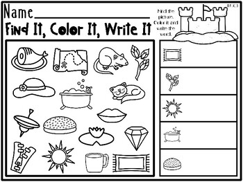 Ocean / Beach Themed Kindergarten Language Arts Pack