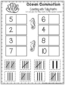 Ocean Commotion Literacy & Math Packet by Harper's Hangout