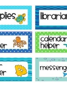 Ocean theme classroom job chart editable also by first class teacher rh teacherspayteachers