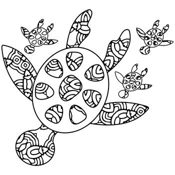Ocean Theme Mandala and Zentangle Designs Coloring Book by