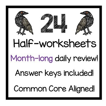 October Daily Math Review 4th Grade Common Core by