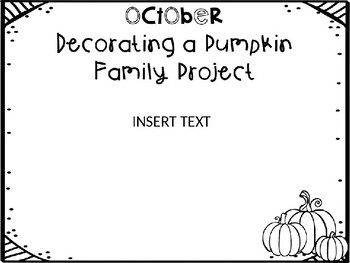 October Decorating a Pumpkin Family Project by Made by TB