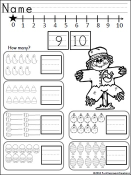 Kindergarten October ELA and Math Activities {Common Core