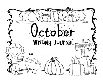 October Kindergarten Writing Prompts and Journal (Common