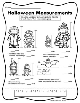 October Math and Literacy NO PREP Fall Printables for