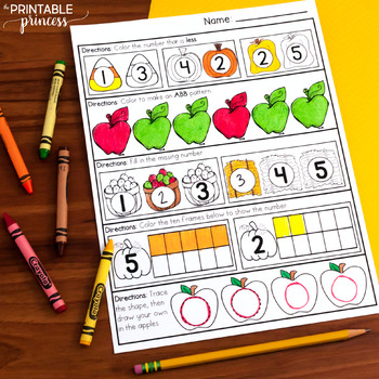 October Morning Work for Kindergarten by The Printable