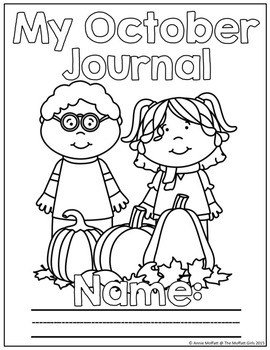 October NO PREP Journal Prompts for Beginning Writers by