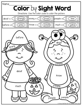 October NO PREP Math and Literacy Packet (1st Grade) by