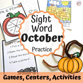 Sight Word Activities October