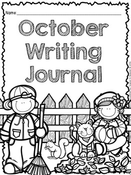 October Writing Prompts and Center (CCSS Aligned) by