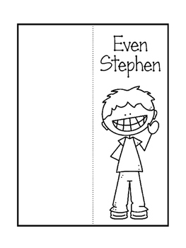 Odd Tod and Even Stephen Foldables. Interactive Notebook