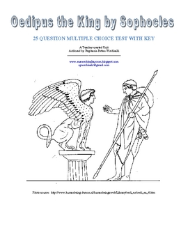 Oedipus the King by Sophocles: Multiple Choice Test with