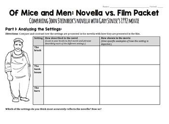 Of Mice and Men Movie Worksheet