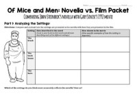Of Mice and Men Movie Worksheet - Novella/Film Comparison ...