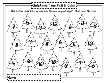 Oh Christmas Tree, Oh Christmas Tree (Math & Literacy