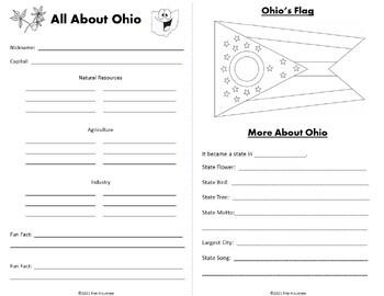 Ohio Research Webquest Mini-Book Activity Common Core by