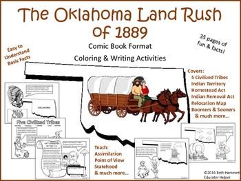 Oklahoma Land Run By Beth Hammett The Educator Helper TpT