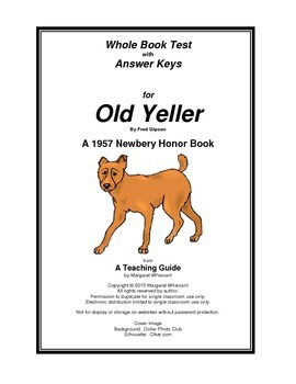Old Yeller Whole Book Test By Margaret Whisnant