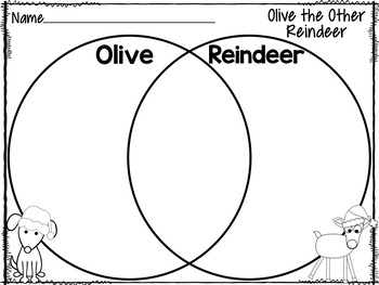 Olive the Other Reindeer {Literature Study Printables} by
