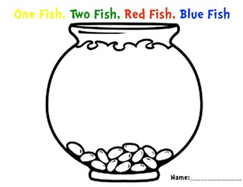 One Fish, Two Fish, Red Fish, Blue Fish Bowl by Little