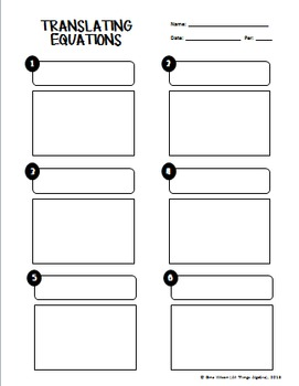 Writing Equations from Word Problems Task Cards (One-Step