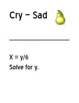 One Step Literal Equation Scavenger Hunt by Christi