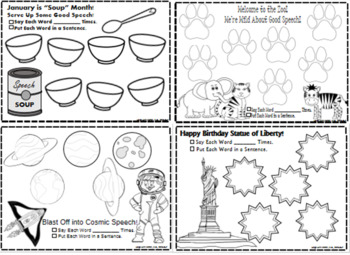 Open-Ended Articulation Worksheets for FUN & UNIQUE