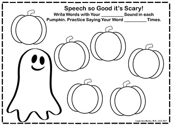 Open-Ended Articulation Worksheets for the Year by