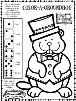 Open-Ended Groundhog Day Coloring Activity FREEBIE by