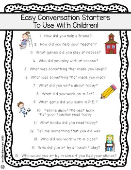Open Ended Questions for Parents to Ask Their... by