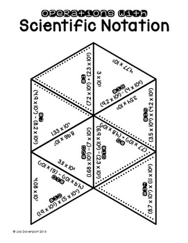 Operations with Scientific Notation (PUZZLE) by Lisa