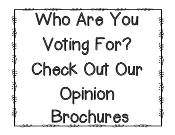 Opinion Writing Brochure Template {Great for the Election