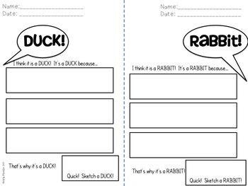 venn diagram bulletin board 2000 honda civic ecu wiring opinion writing duck! rabbit! freebie by nichole meurlin - nerdy and cute