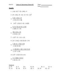 Order of Operations with Integers Worksheet #2 PDF by Kara ...