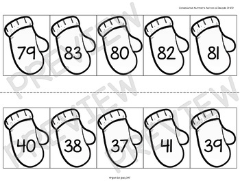 Ordering Numbers 0-120 Mittens on the Line by Just Ask