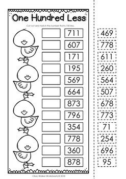 Ordering Numbers to 1,000 (One Thousand) Cut and Paste